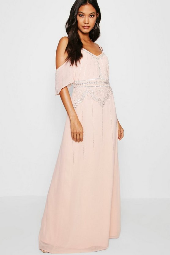 Boutique Zoe Embellished Waist Maxi Dress