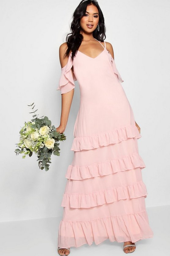Boutique Leah Ruffle Hem Maxi Dress