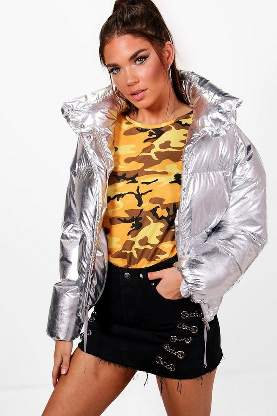 Melissa Metallic Quilted Jacket