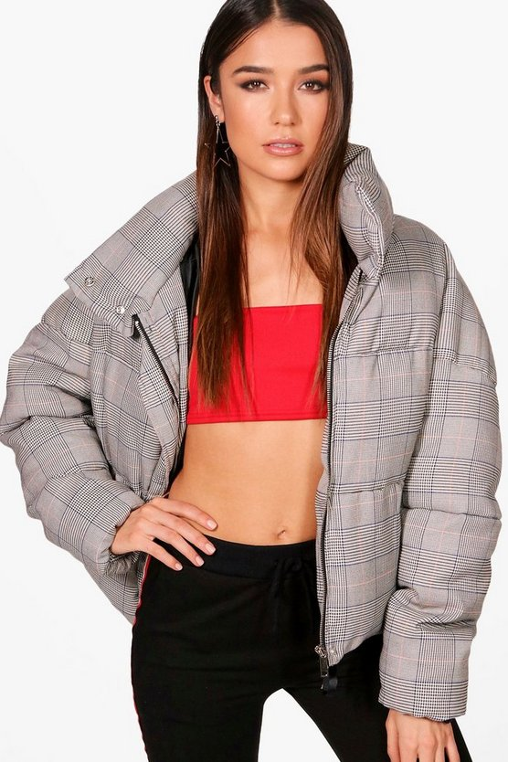 Casey Check Puffer Jacket