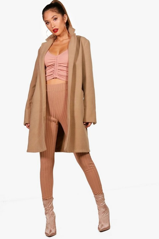 Leah Oversized Boyfriend Coat