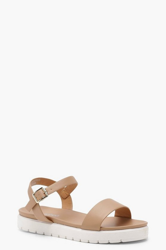 Imogen Cleated 2 Part Flat Sandals
