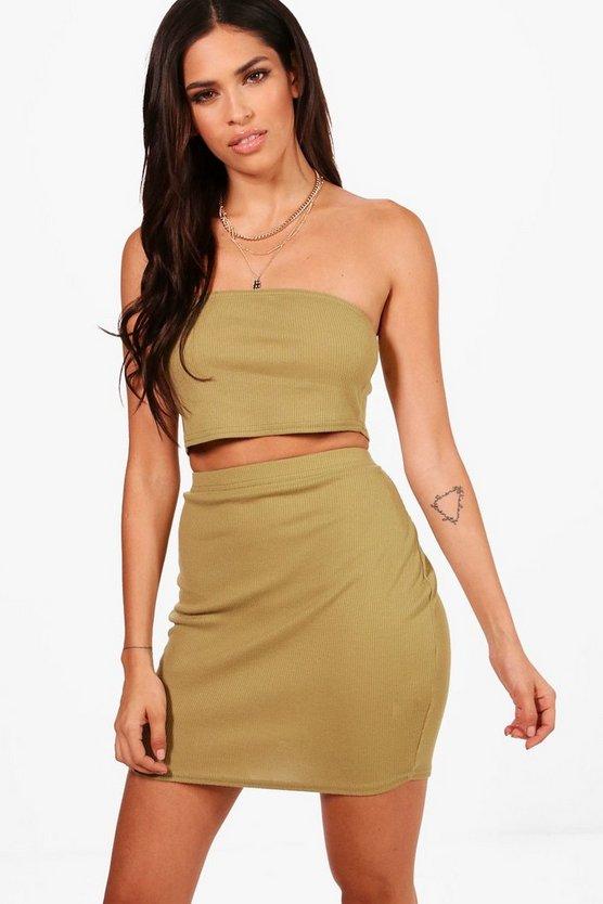 Alesha Basic Bandeau and Mini Skirt Co-ord