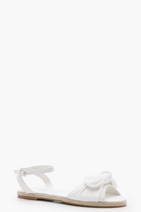 Lola Espadrille Bow Detail Sandals