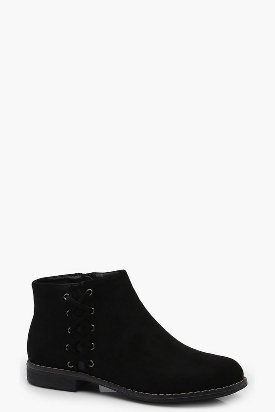 Emily Lattice Side Ankle Boots