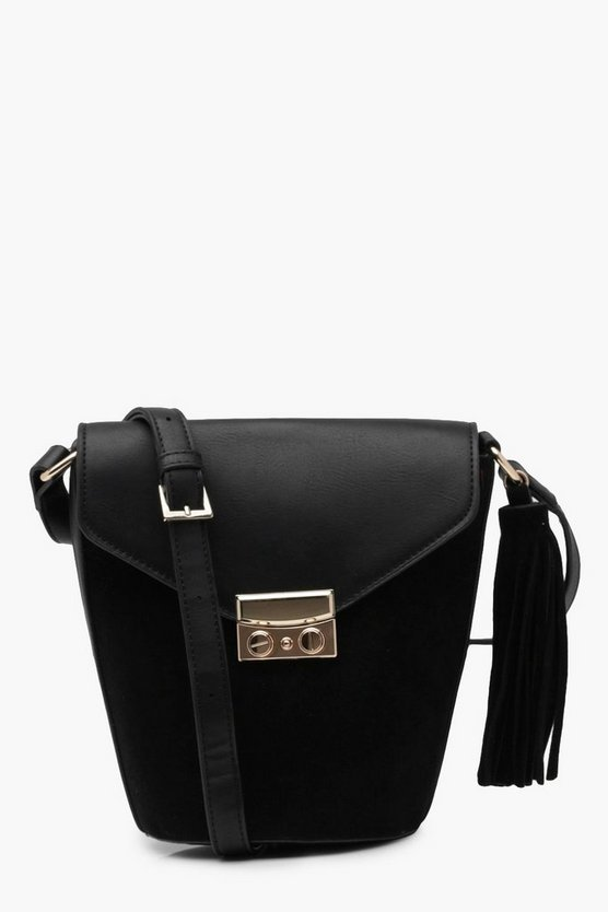 Katy Suedette & Lock Bucket Bag