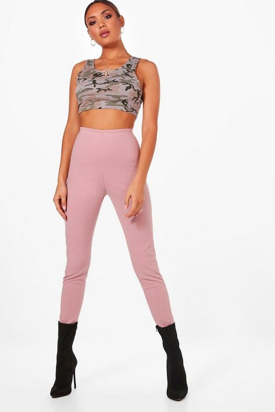 High Waist Crepe Leggings