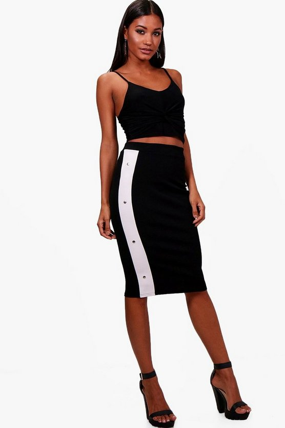 Alyssa Popper Side Midi Skirt