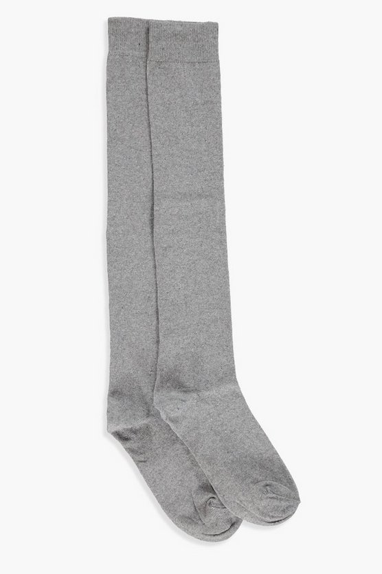 Tabby Grey Knee High Socks