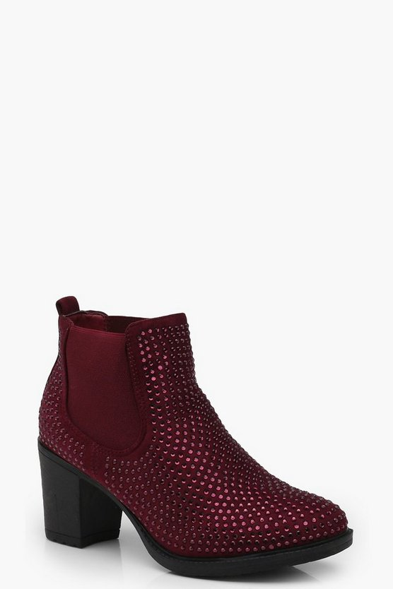 Freya Diamante Detailed Chelsea Boots