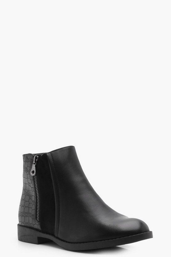 Daisy Zip Side Chelsea Boot