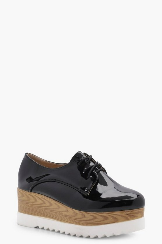 Nicole Cleated Platform Brogues