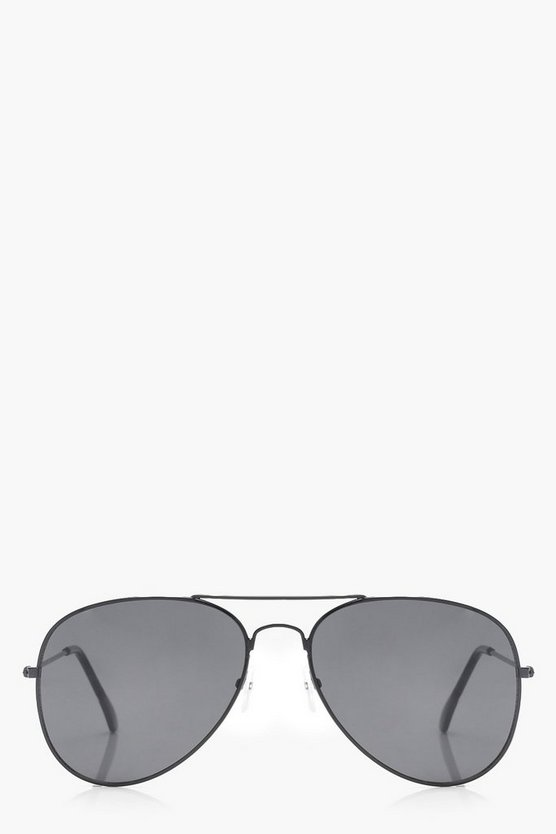 Yasmin Black Aviator Sunglasses