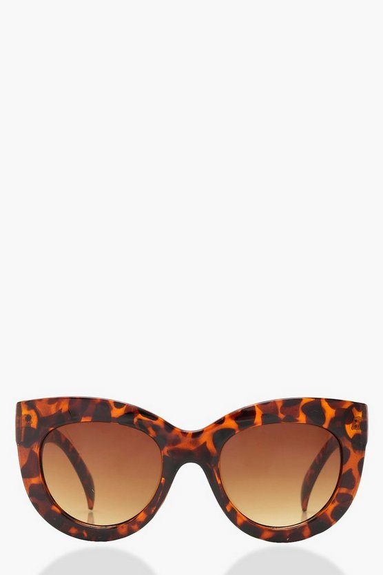 Oversized Tortoiseshell Eye Sunglasses