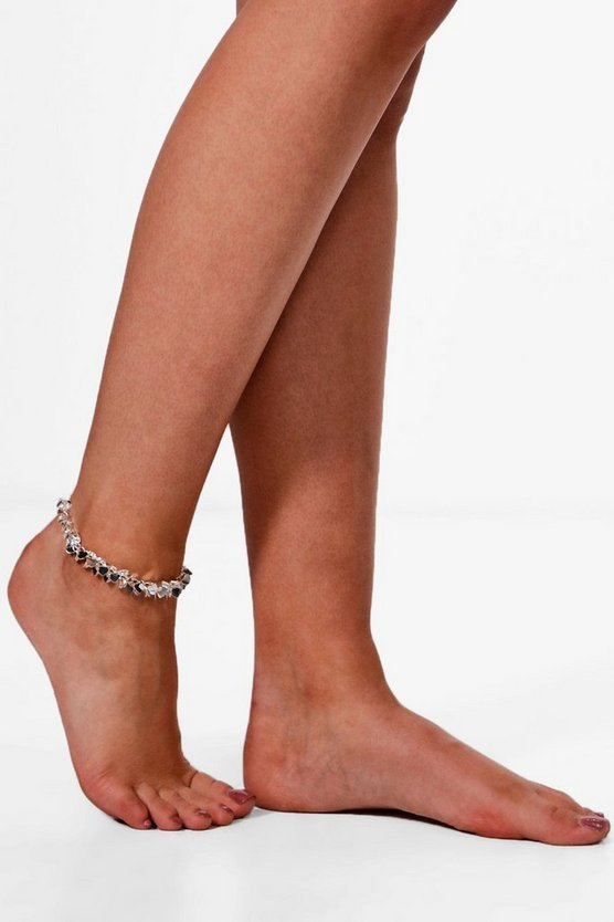 Ella Heart Stone Anklet