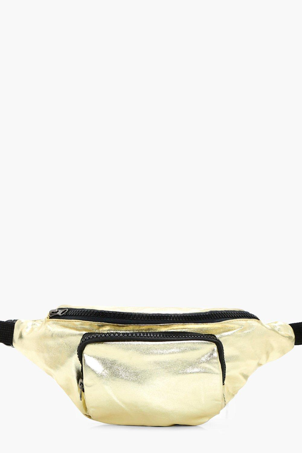 Metallic Gold Bumbag - gold - Freya Metallic Gold