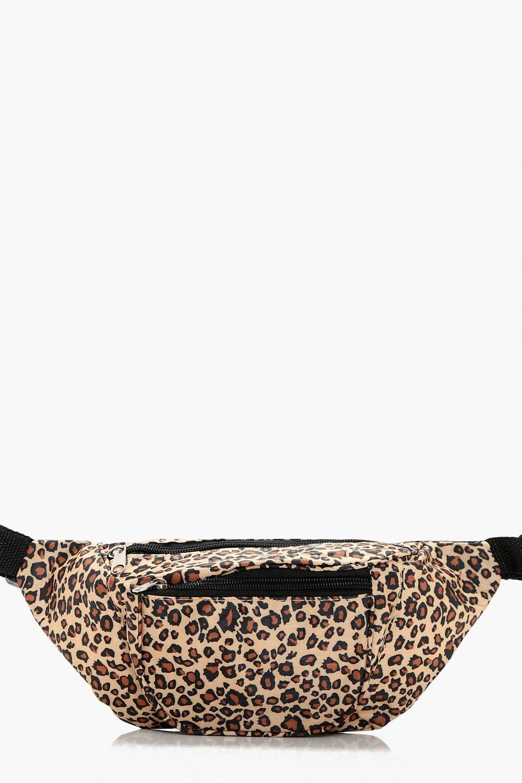 Leopard Print Bumbag - beige - Ellie Leopard Print