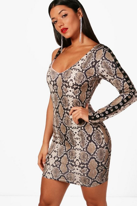 Sophia Snake Print Bodycon Dress