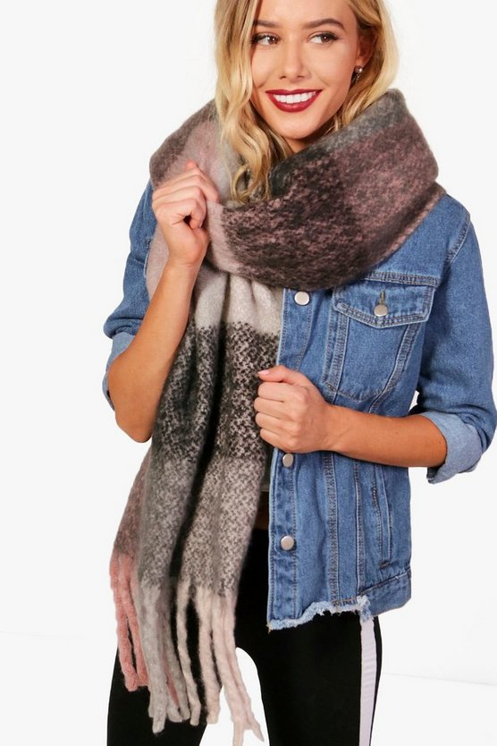 Ellie Brushed Check Scarf