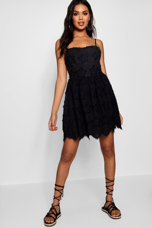 Купить Dresses, Платье с вышивкой в виде звезд на тонких бретелях, boohoo