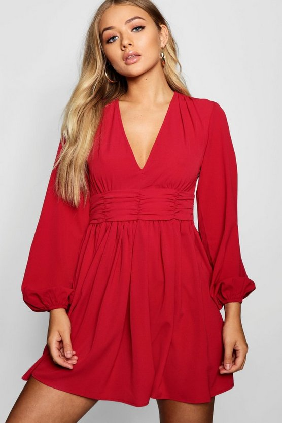 Allanah Ruched Waist Tea Dress