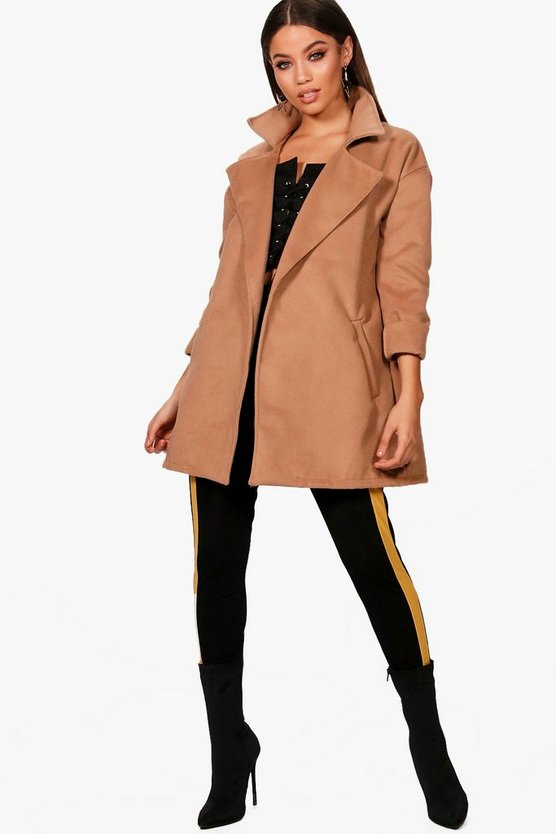Nicole Collared Wool Look Coat