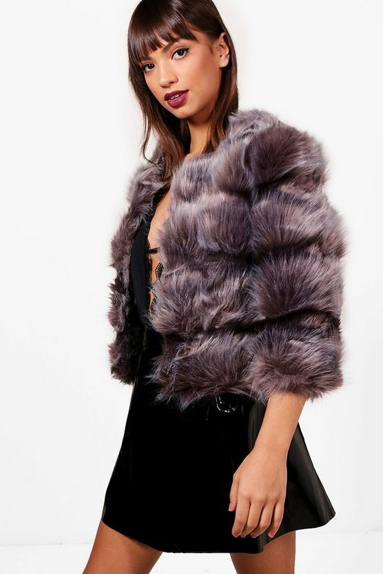 Blake Boutique Panelled Faux Fur Coat
