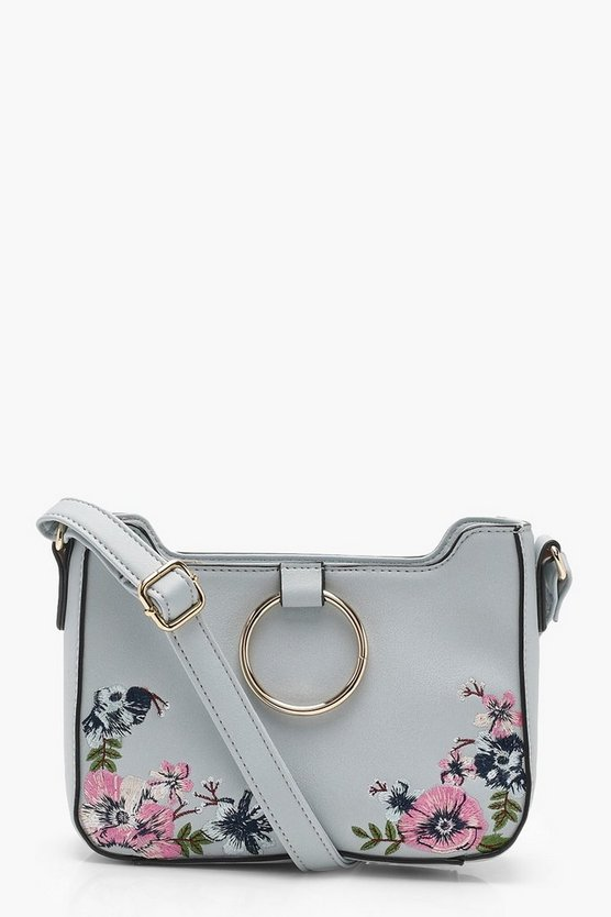 O-Ring Floral Cross Body Bag