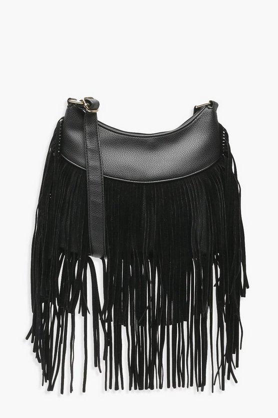 Tassel Hobo Cross Body Bag