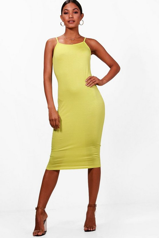 Molly Strappy Midi Bodycon Dress