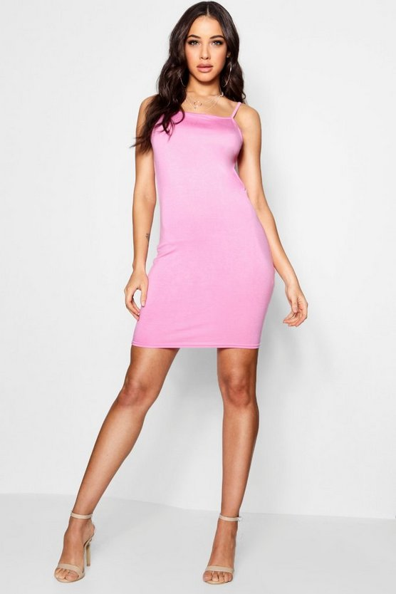 Millie Racer Neck Mini Bodycon Dress