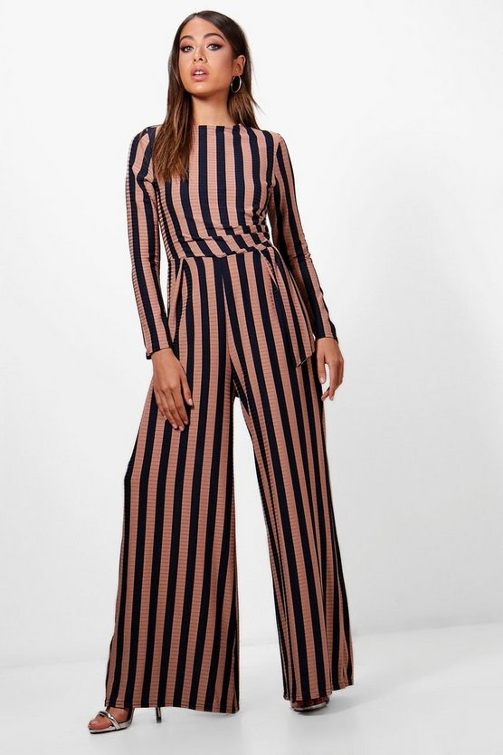 Colby Stripe Wide Leg Jumpsuit