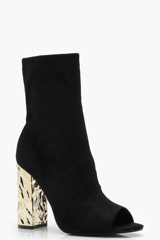 Lexi Peeptoe Feature Heel Shoe Boot