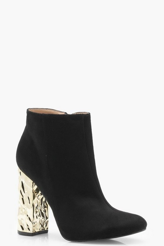 Olivia Feature Heel Shoe Boots
