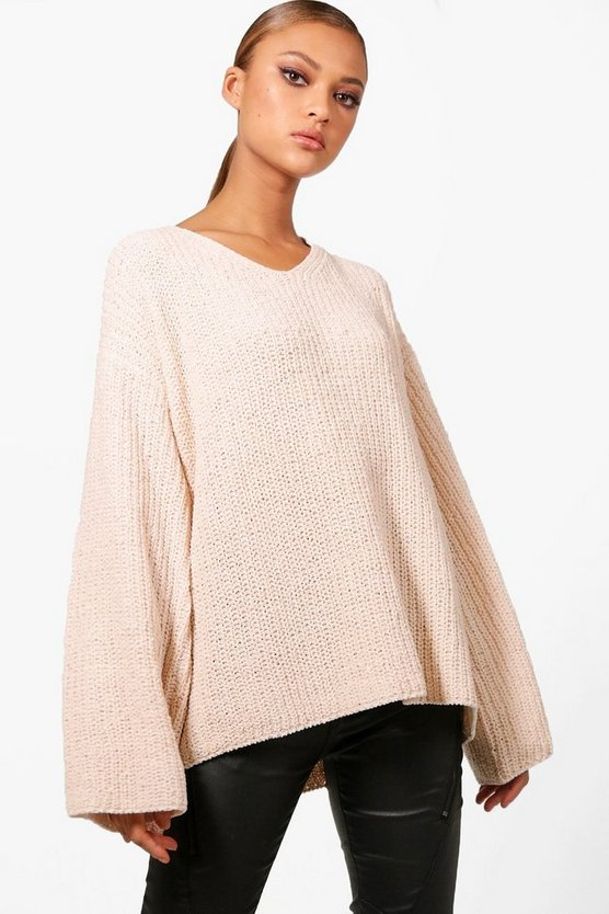 Oversized Chenille Wide Sleeve Jumper