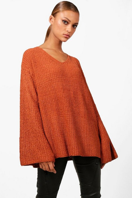Sadie Oversized Chenille Wide Sleeve Jumper