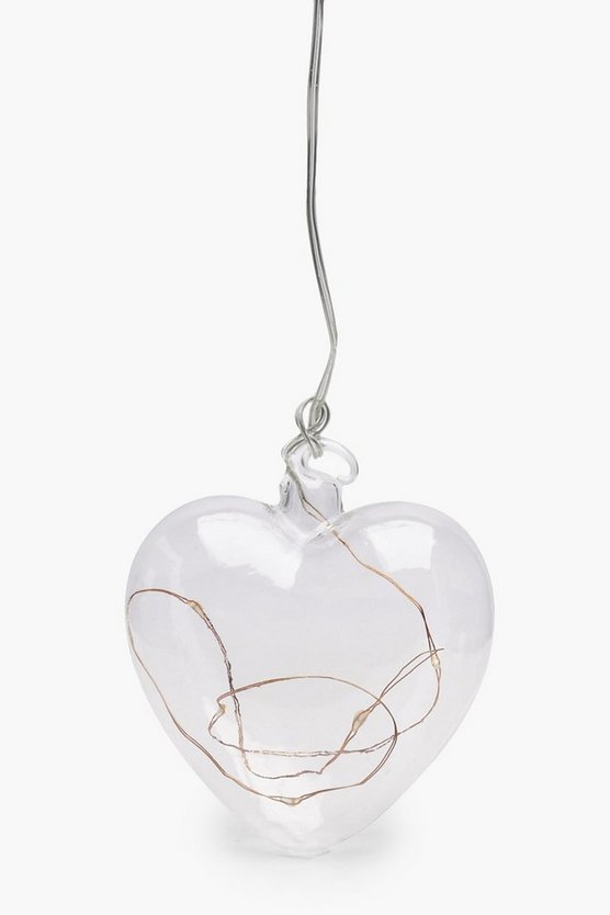 Glass Heart Hanging Lamp