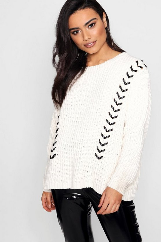 Emme Lace Up Chenille Jumper