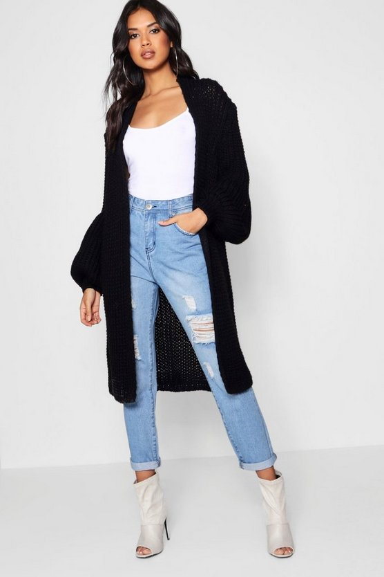 Oversized Balloon Sleeve Cardigan