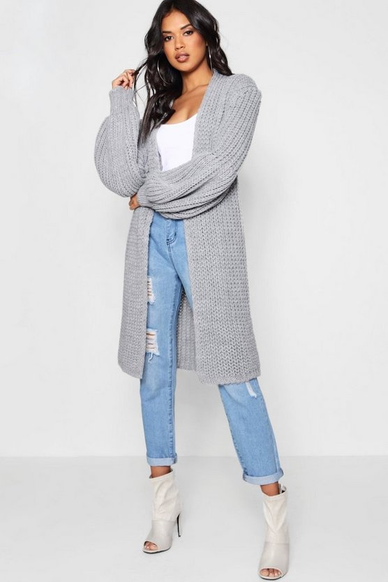 Amelia Oversized Balloon Sleeve Cardigan