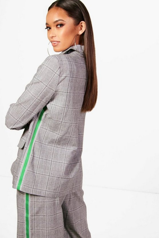 Elenor Check Sports Stripe Blazer
