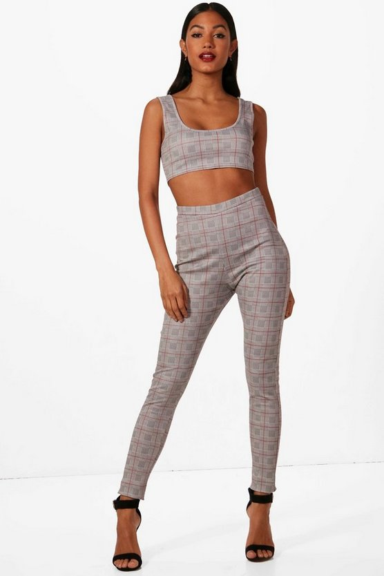 Libby Check Crop and Legging Co-ord