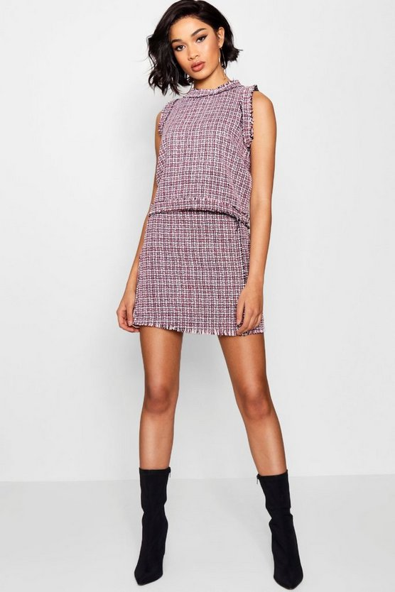 Hollie Boucle Mini Skirt