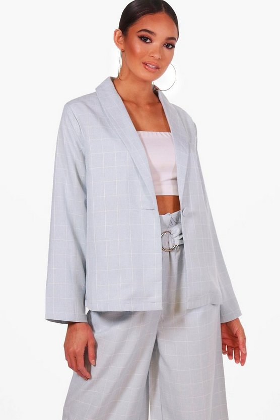 Light Weight Check Blazer
