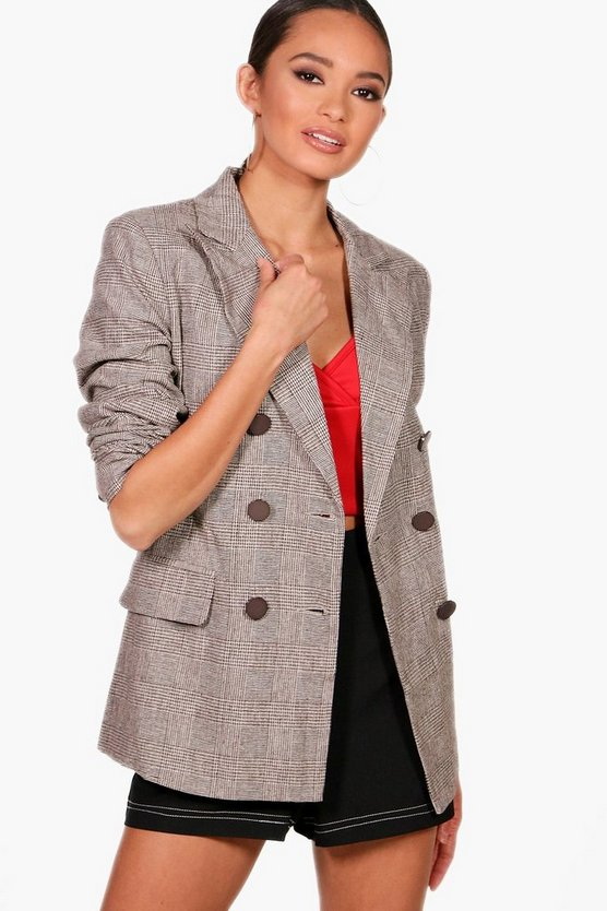Lola Check Double Breasted Blazer