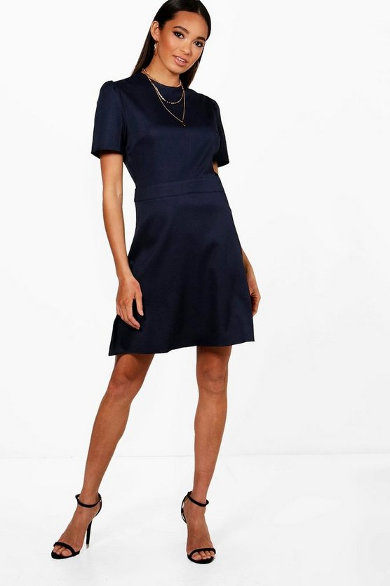 Tailored Woven Skater Dress