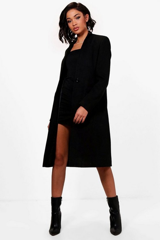 Maya Tailored Wool Look Coat