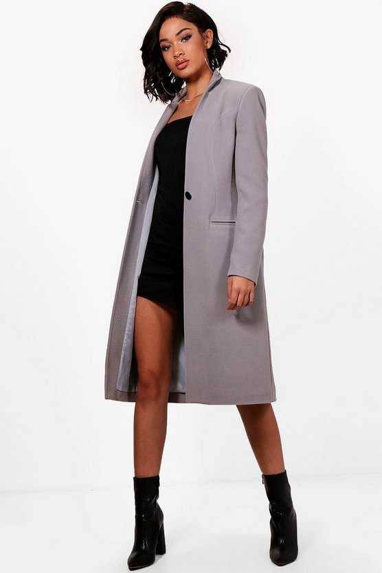 Tailored Wool Look Coat