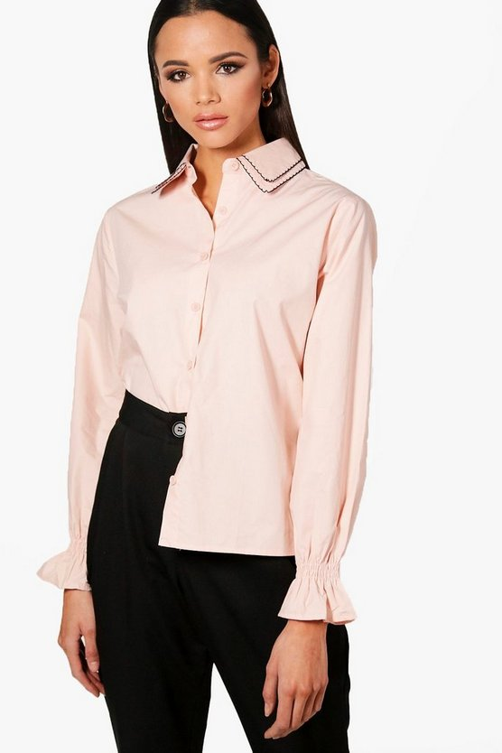 Ivy Embriodered Collar Detail Shirt