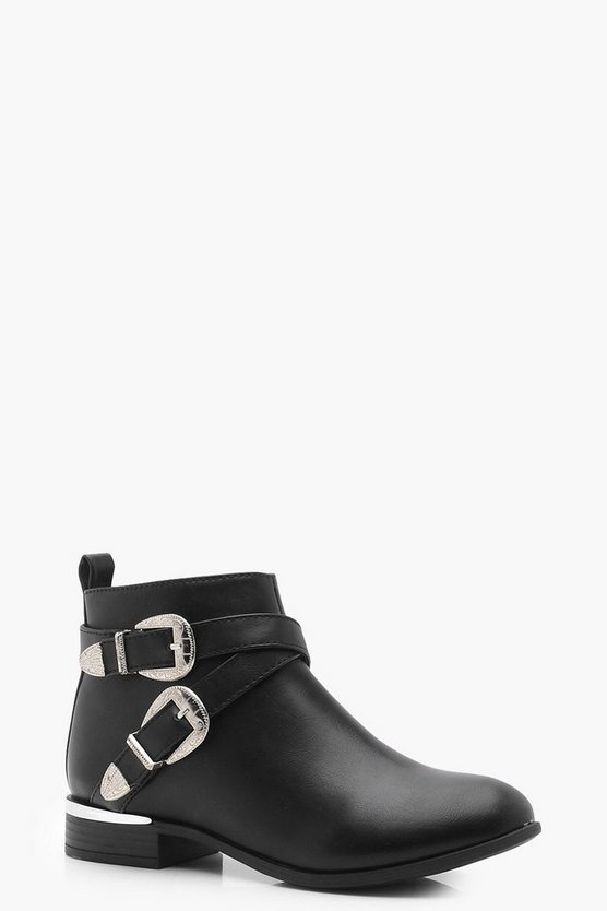 Maya Buckle Strap Chelsea Boots